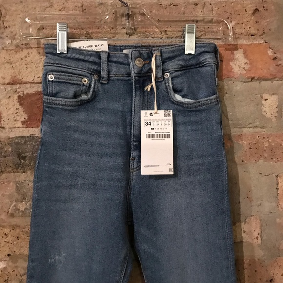 890ff141 Zara Jeans   Premium Venice Blue 80s High Waist Nwt   Poshmark